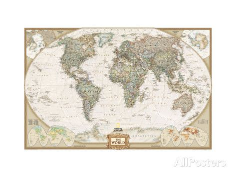 World Political Map, Executive Style Prints at AllPosters.com