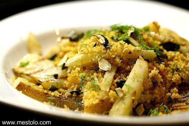 Curry-Couscous mit gerösteter Birne und Fenchel | Mestolo