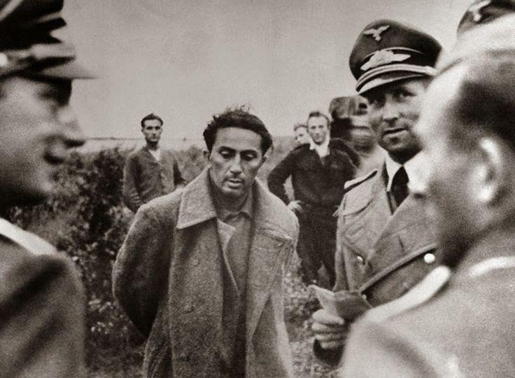Yakov Dzhugashvili (Yasha)  bei der Gefangennahme durch die Deutschen, 1941. Yasha war der älteste Sohn Stalins.