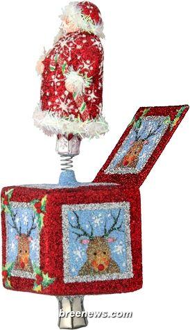 Jolly Surprise, Santa Claus (Red Santa) Patricia Breen Designs (Blue, Holly, Red, Reindeer, Snowflakes)