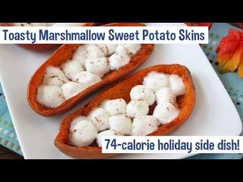 How To... Make Toasty Marshmallow Sweet Potato Skins | Hungry Girl Videos