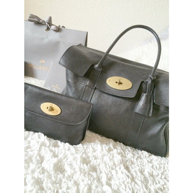 Min nye baby #smuktpar#mulberry#bayswater#bag#blackandgold#perfectmatch#purse#inlove