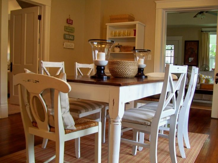 Distressed White Oak Dining Chairs: 1000+ Ideas About Distressed Kitchen Tables On Pinterest