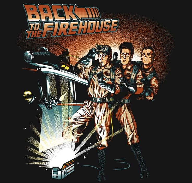Back to the Firehouse T-Shirt $12 Ghostbusters tee at Once Upon a Tee!