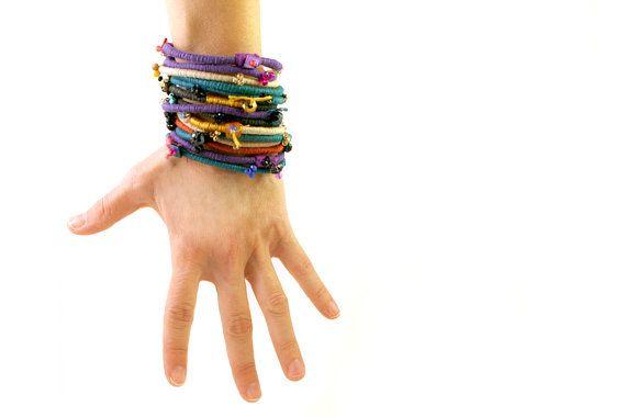 Boho bracelet/Rope bangle/Multicolour boho cotton rope bracelets/Handmade bracelets/Delicate bracelets/Bangle bracelets/Boho jewelry  Very beautiful