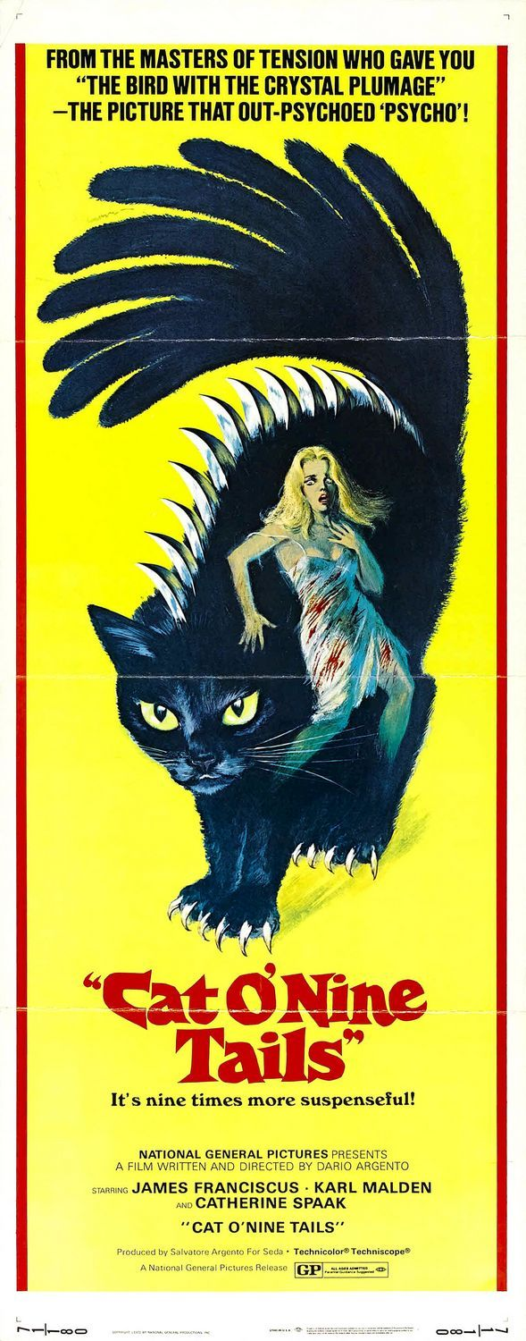 The Cat o' Nine Tails: Extra Large Movie Poster Image - Internet Movie Poster Awards Gallery
