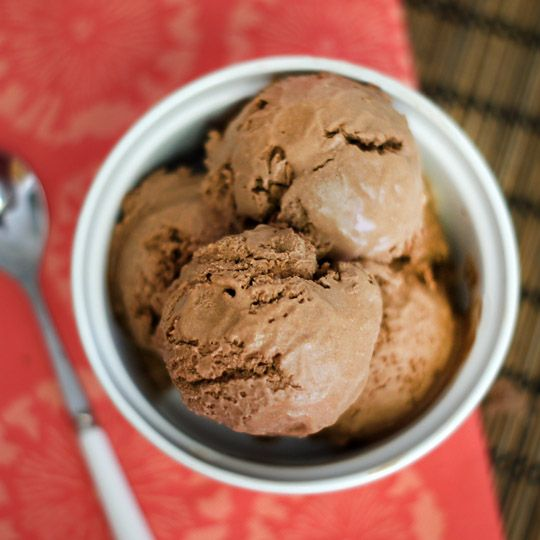 Coconut milk ice cream FOUR ingredients: canned coconut milk (full-fat for best results), cocoa, sweetener (honey, maple syrup, stevia) and vanilla! Sooooo yummy & super easy!