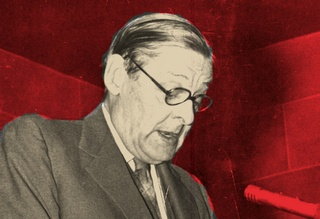 """Modernism & Conservatism: Does the culture of """"The Waste Land"""" lead to freedom—or something more? (photo of T.S. Eliot) http://www.imaginativeconservative.org/2012/11/modernism-conservatism-does-culture-of.html#.ULRLToV1GOI"""