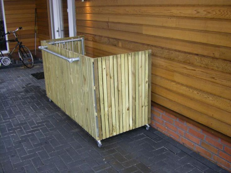 Container / kliko ombouw voor 3 containers