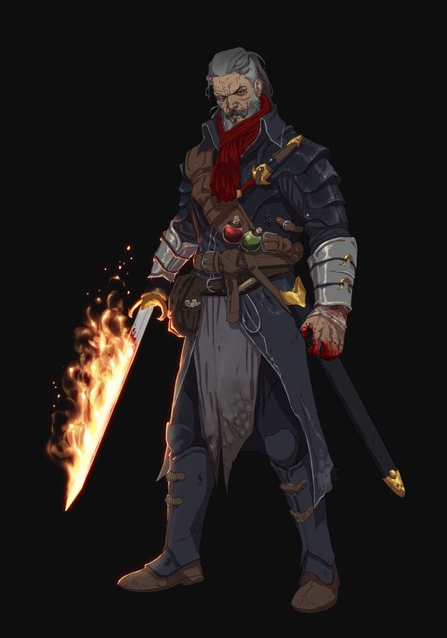 ART] Elias from Matthew Mercers Blood Hunter class! : DnD | D&D