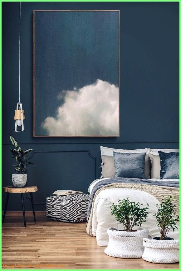 Schlafzimmer Wandfarbe: Cloud Painting by Corinne Melanie #bedroomwallcolorsformen #bedroomw…