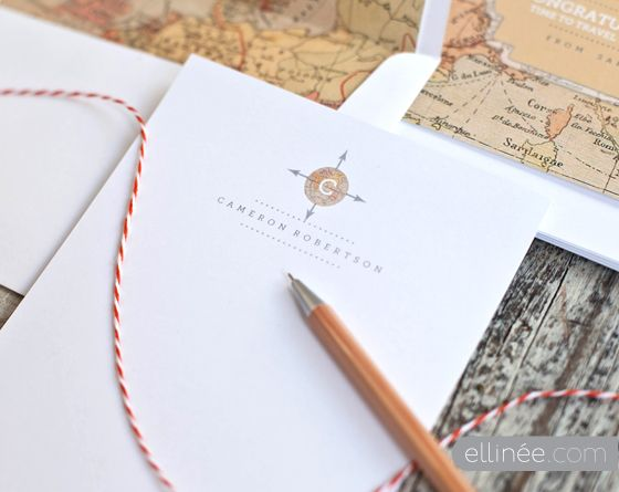 Free printable monogrammed stationary that you can type in your name and initial.