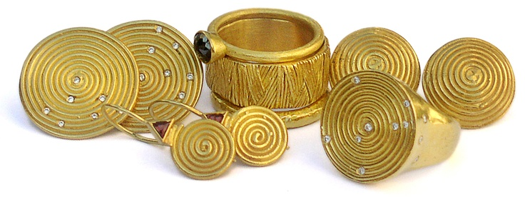 """22k gold - """"cleo- Africa"""" collection by Osnat Weingarten"""