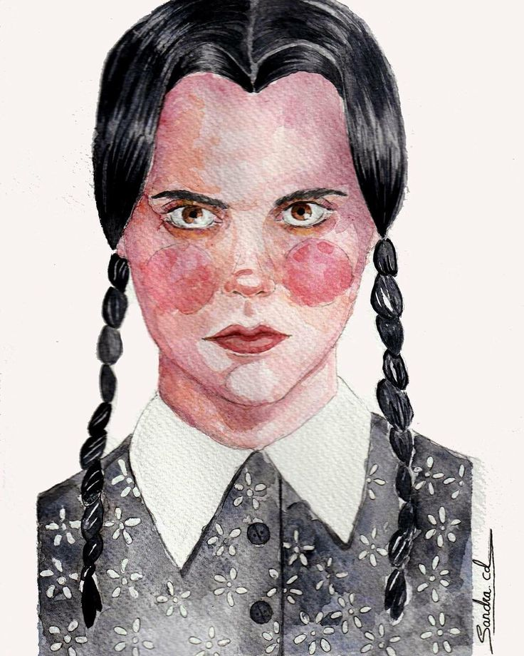 Illustration Wednesday Addams//Ilustración Miércoles Addams #art #illustration #drawing #draw #TagsForLikes #picture #artist #sketch #sketchbook #paper #pen #pencil #artsy #instaart #beautiful #instagood #gallery #masterpiece #creative #photooftheday #instaartist #illustration #watercolor #artoftheday