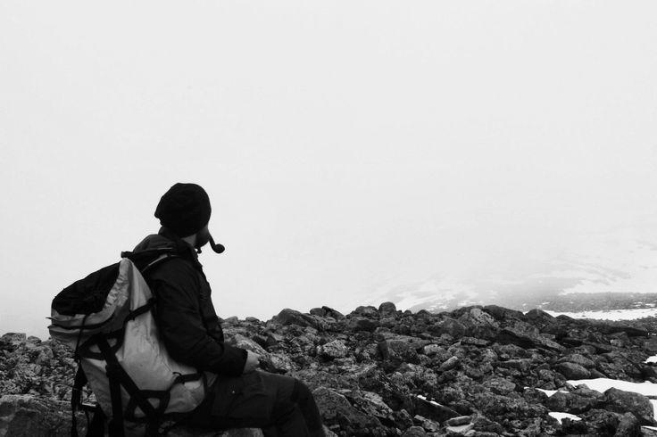 Beard and tobaccopipe in foggy weather #blackandwhite#fog#travel#Norway
