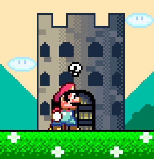 from The Pixelated Nerd - hee, I want to play Super Mario World again<3