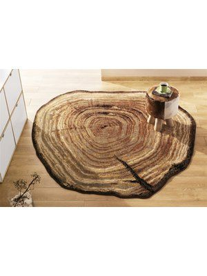 tree ring rug
