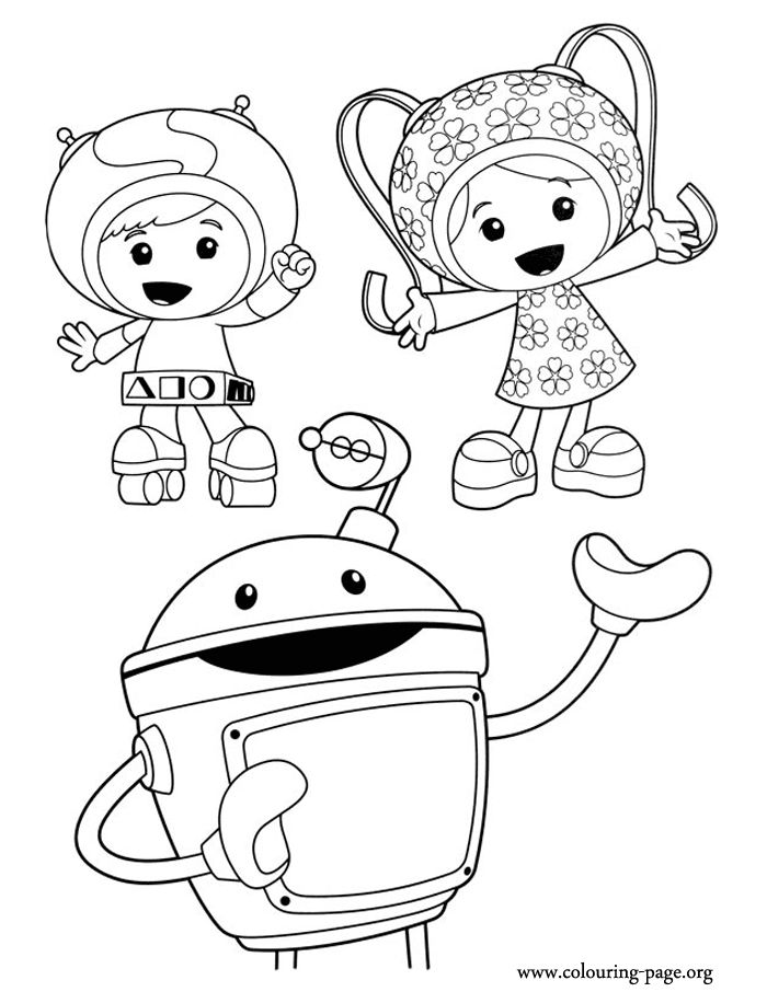 A beautiful picture of Team Umizoomi