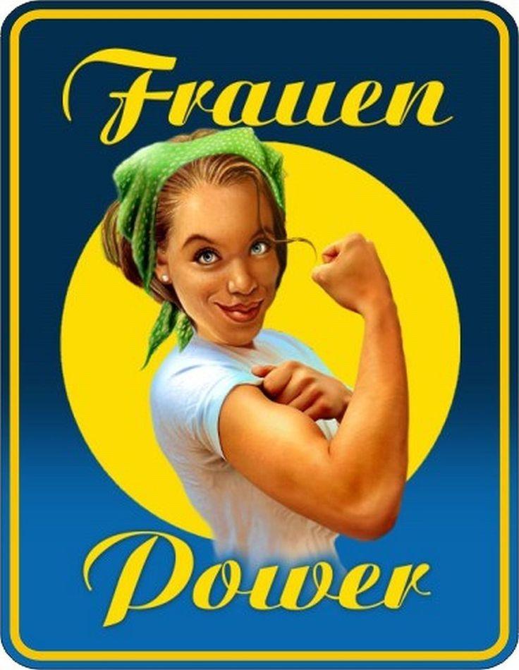 Details zu Blechschild Schild Frauenpower Fun-Schild in