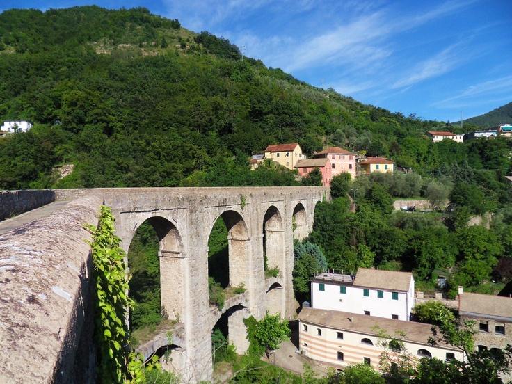 Rio Torbido aqueduct in Genova, Liguria, Italy.
