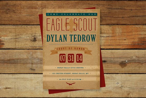 Eagle Scout Invitation for Court of Honor/ by Dawn2DuskDesign
