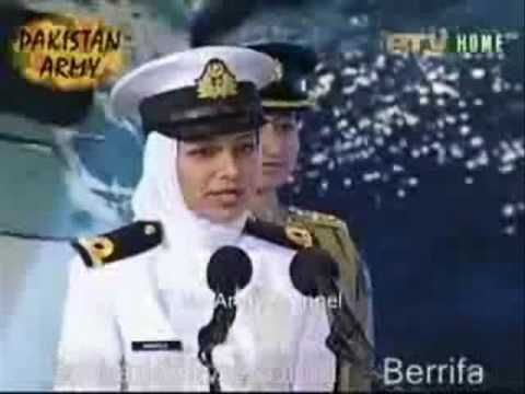 Pakistani Female Military officers @ Pakistan Defence Day Show - YouTube