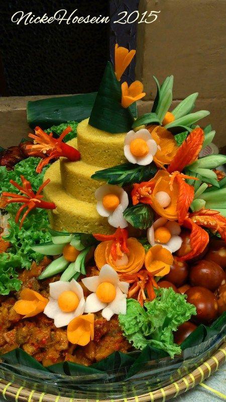 Indonesian Yellow rice cone