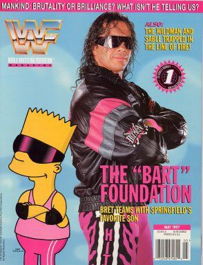 Bret Hart & Bart Simpson