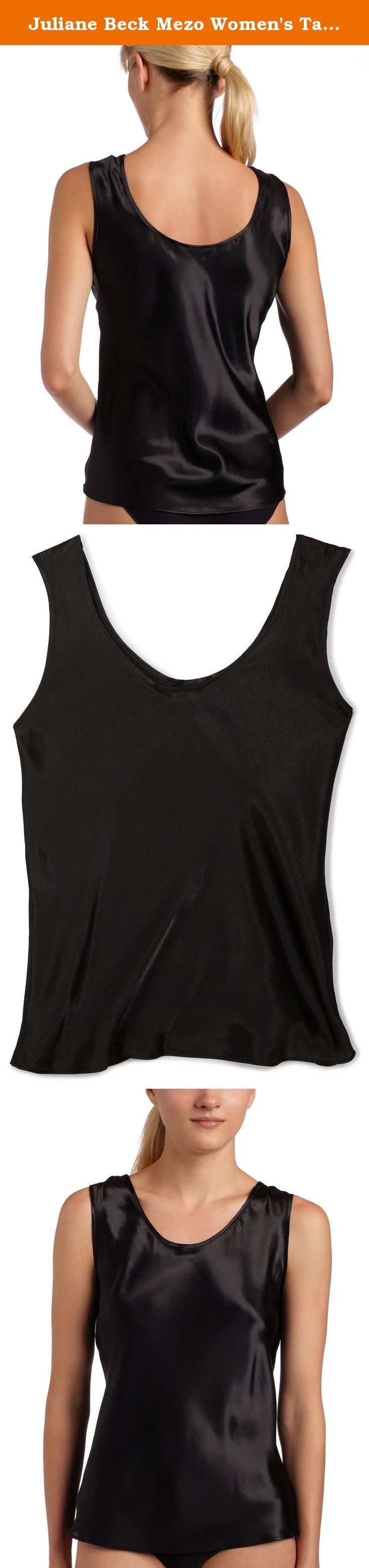 Juliane Beck Mezo Women's Tank Camisole Black X-Large. Juliane Beck Mezo #640051 all satin, round neck, tank strap camisole.