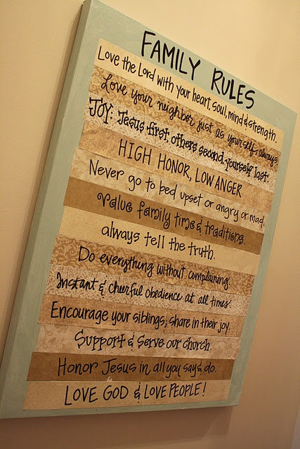 Child Room, Family Values, Families Values, Families Scriptures, Cute Ideas, House Rules, The Rules, Family Rules, Families Rules