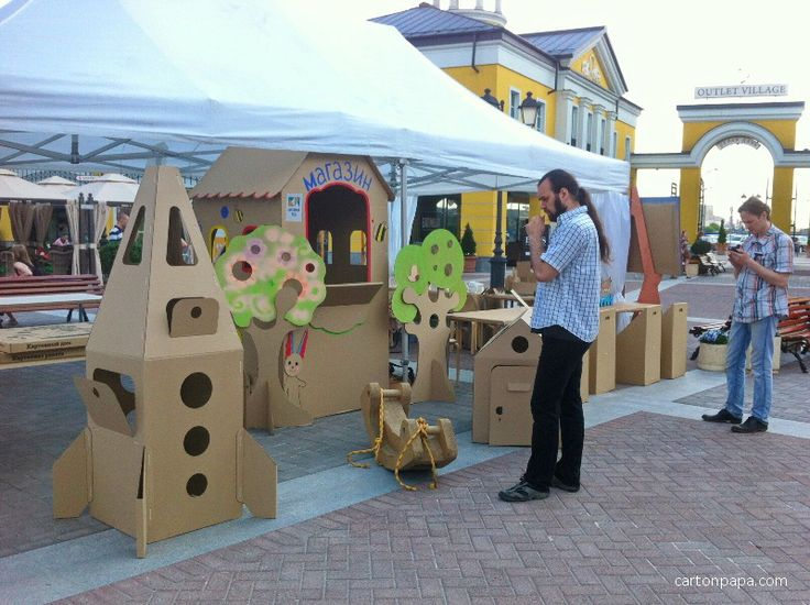 Cardboard playground and shop