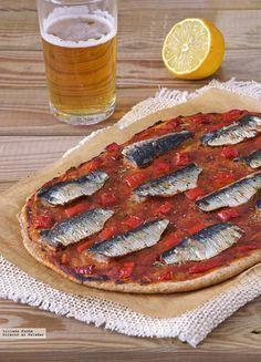 Coca fina integral de sardinas y pimiento: receta para el buen tiempo #recetas
