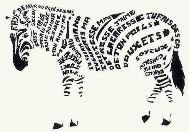 Atelier Zelles Ô Féminin Disposition graphique d'un poème ...