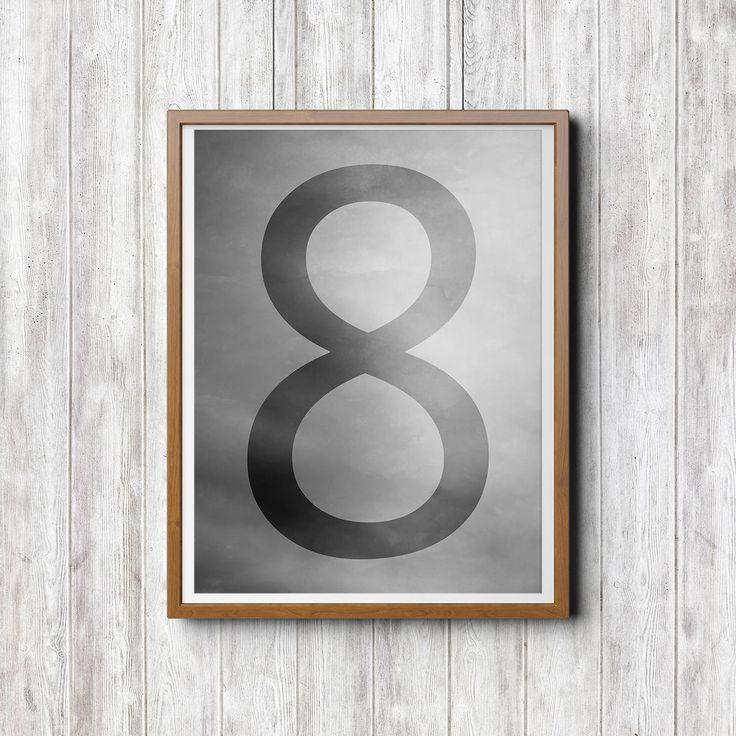 8 Acht, Zahlen Illustration, schwarz weiß Illustration, Sofort Download, Minimal Kunst, Poster Download, Drucke Illustration Download von FotokunstVonAlex auf Etsy