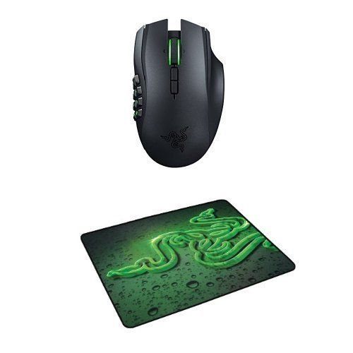 Razer Naga Epic Chroma Multi-Color Wireless MMO Gaming Mouse and Mouse Mat Bundle