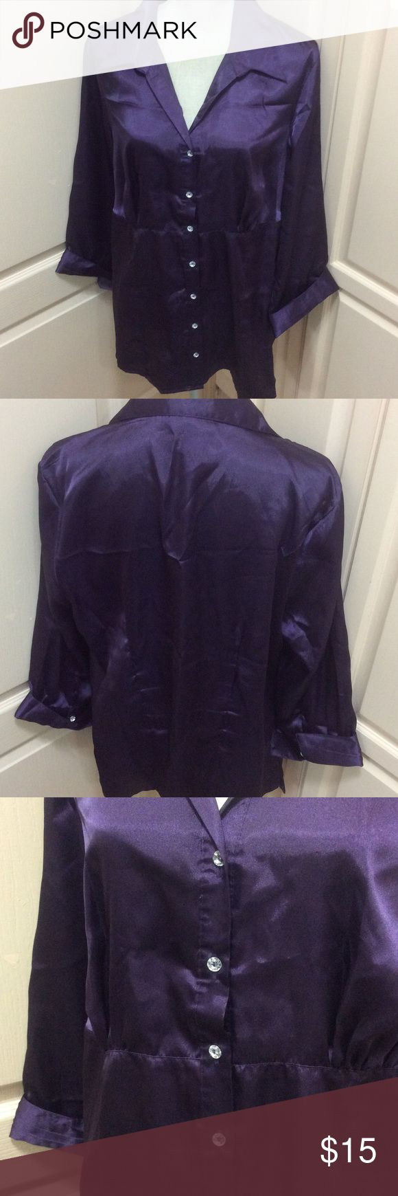 PURPLE SHIRT Elegant shirt will dress up any outfit. Tops Blouses