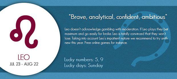 Leo lucky gambling horoscope