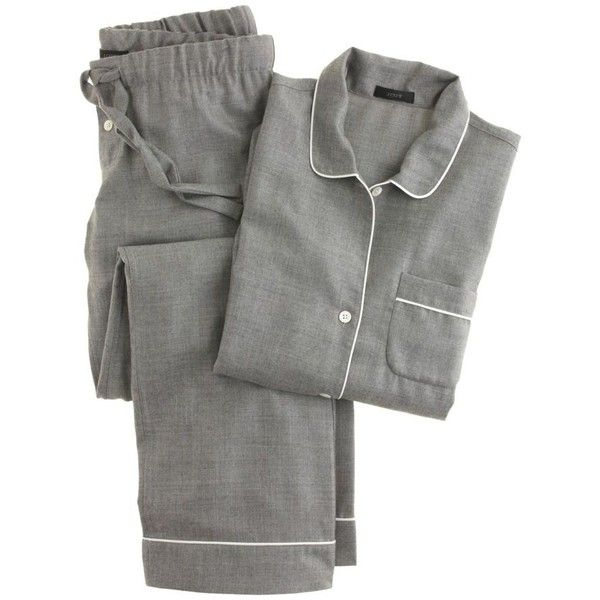 J.Crew Collection Cashmere Pajama Set (1,215 CAD) ❤ liked on Polyvore featuring intimates, sleepwear, pajamas, lingerie, night, cashmere sleepwear, j crew pajamas, long sleeve pajamas, j.crew sleepwear and cashmere pjs