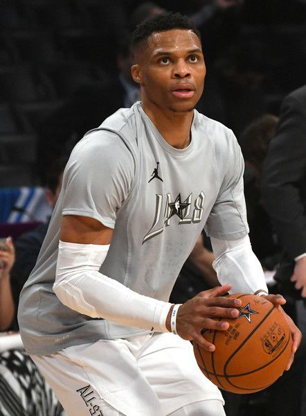 6e5fe35e5d3 Russell Westbrook Photos - Russell Westbrook warms up during the NBA All-Star  Game 2018 at Staples Center on February 18