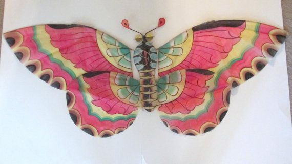 Vintage CHINESE KITE BUTTERFLY Hand Crafted by TREASUREandSUCH, $30.00