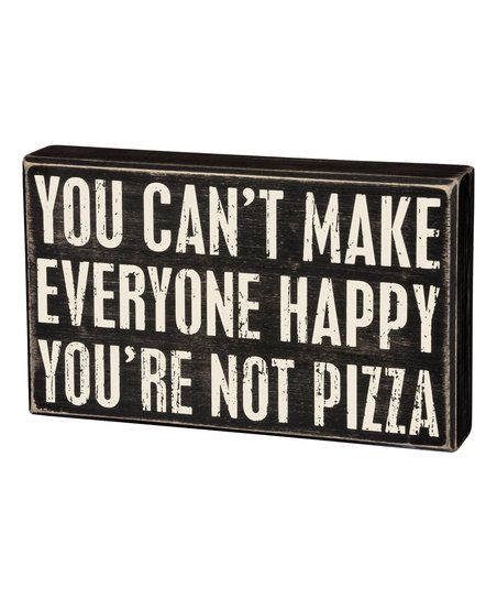 Primitives by Kathy Not Pizza Block Sign | zulily