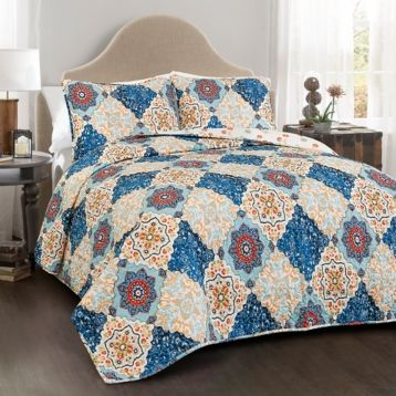 Brandy Blue 3-pc. King Quilt Set | Kirklands
