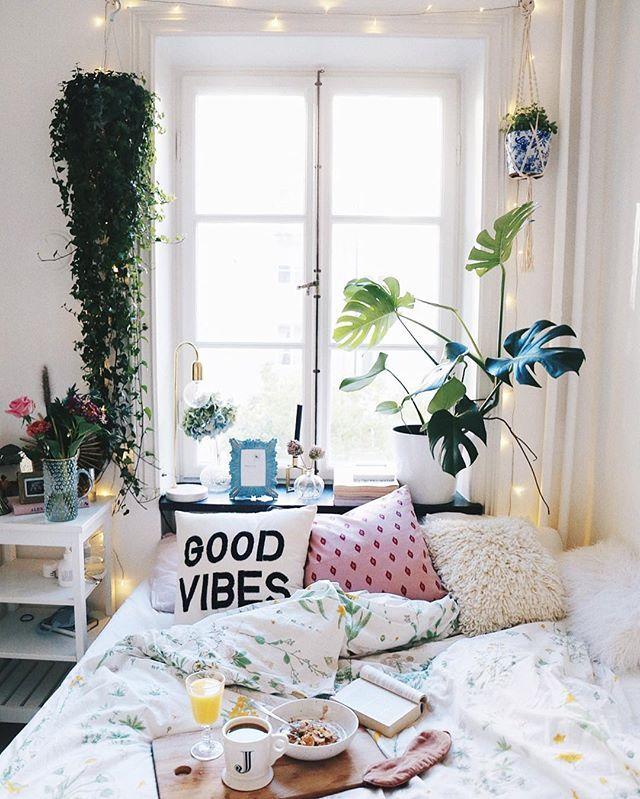 Bedroom Inspo, Neutral Bedding And Bedroom Shelving
