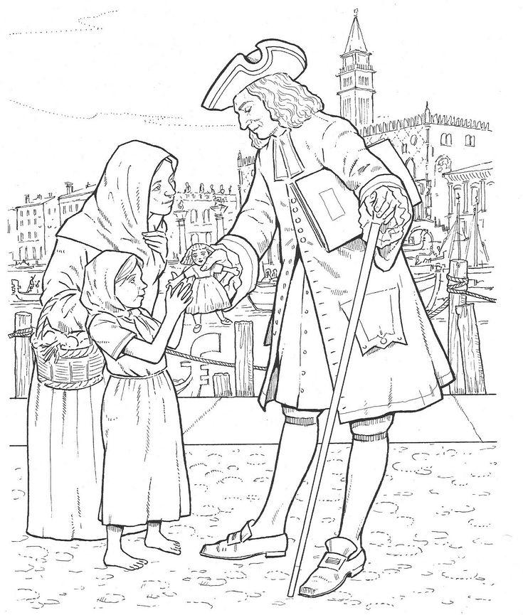 Antonio Vivaldi coloring page | Free Printable Coloring Pages | 865x735