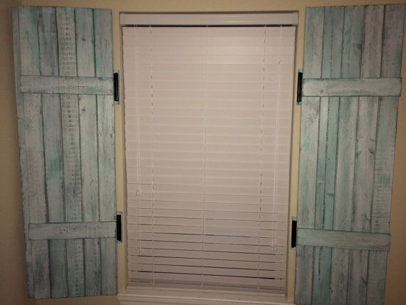 Interior shutters distressed decorative by for Indoor decorative shutters