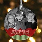 Make your Christmas card from each year into an ornament. look back and see how much you've each grown year to year!