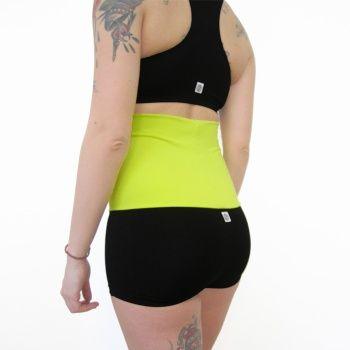 Pantaloncini fascia giallo fluo - Mia wear - abbigliamento per pole dance