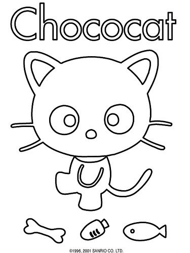 Download Molde de Feltro Cat   Coloring books, Sanrio, Sanrio characters