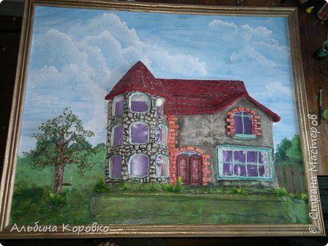 Картина панно рисунок Мастер-класс Лепка Рисование и живопись Моя 3D картина мини мастер класс Краска Тесто соленое фото 1