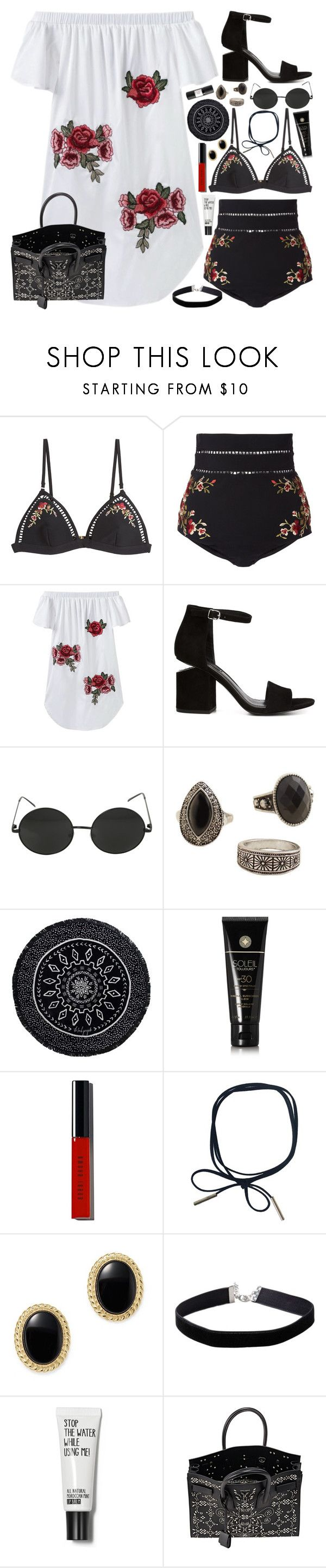 """B A D / /"" by queen-laureen ❤ liked on Polyvore featuring Zimmermann, Alexander Wang, MANGO, The Beach People, Soleil Toujours, Bobbi Brown Cosmetics, Bloomingdale's, Miss Selfridge, Yves Saint Laurent and Eight & Bob"